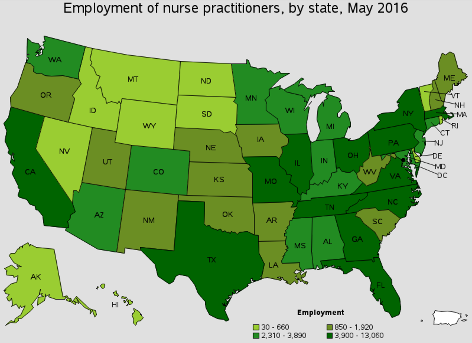 Employment outlook for nurse practitioners in